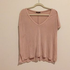 Oversized blush t shirt